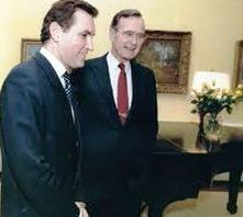 President George H.W. Bush, standing next to, Historian, Doug Wead